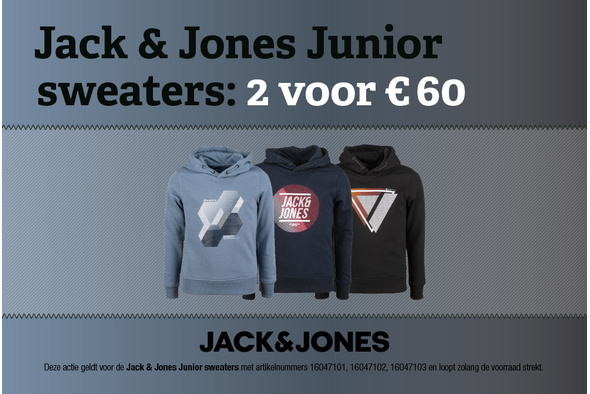 Jack & Jones Junior sweaters: 2 voor 60 euro