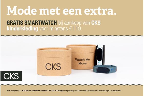 Gratis smartwatch bij CKS