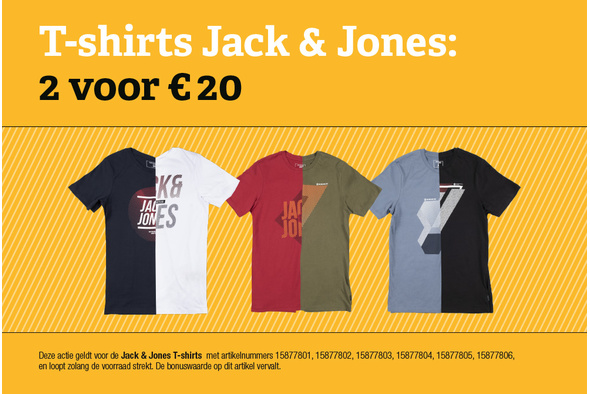 Jack & Jones T-shirts: 2 voor 20 euro