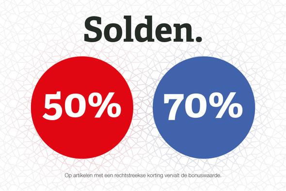 Zomersolden: -50% en -70%