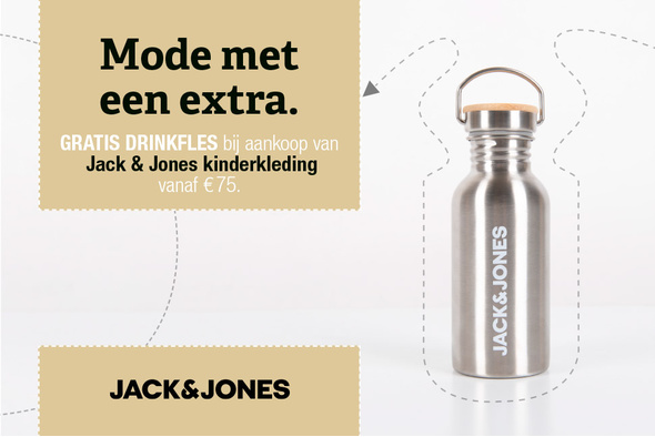 Gratis drinkfles bij Jack & Jones kids
