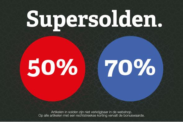 SUPERSOLDEN - kortingen van 50 en 70%