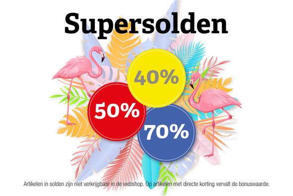 Supersolden: kortingen tot 70%