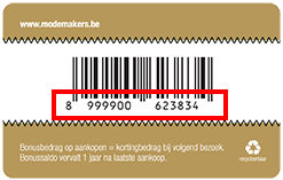 Bonuskaartnummer